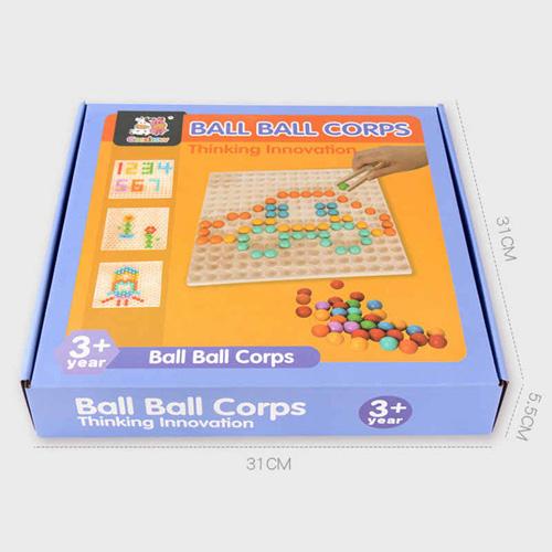 Деревянная игра Ball Ball Corps