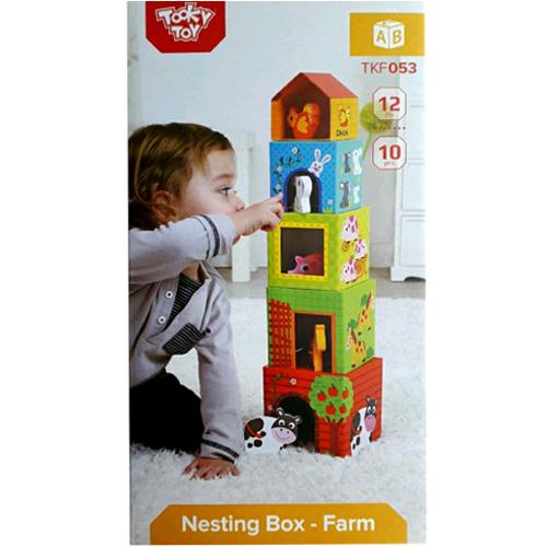 Деревянная игрушка Кубики-пирамида Ферма TKF053