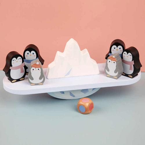 Деревянная игрушка Пингвины