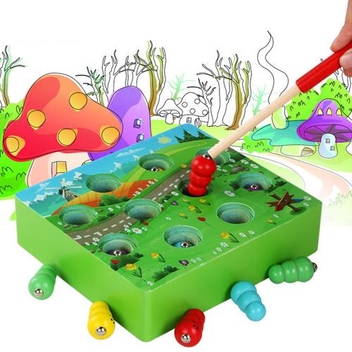 Деревянная магнитная игра Грибы