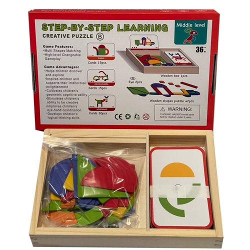 Деревянная игрушка Step By Step Learning Creative Puzzle 1902-70