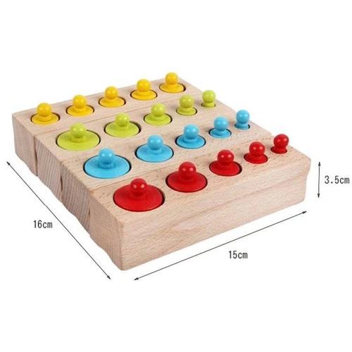 Деревянная игрушка Монтессори Гирьки Больше меньше