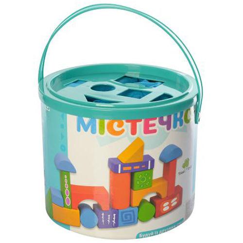 Деревянная игрушка Конструктор Городок MD 0938