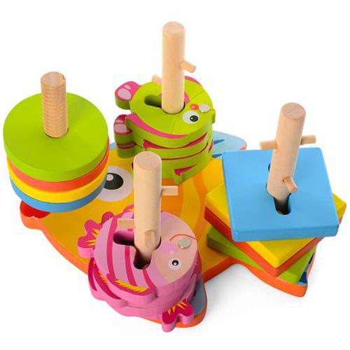 Деревянная игрушка Геометрик-рыбалка MD 0902